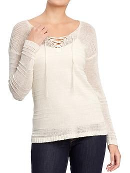 Women's Linen-Blend Knit Sweaters