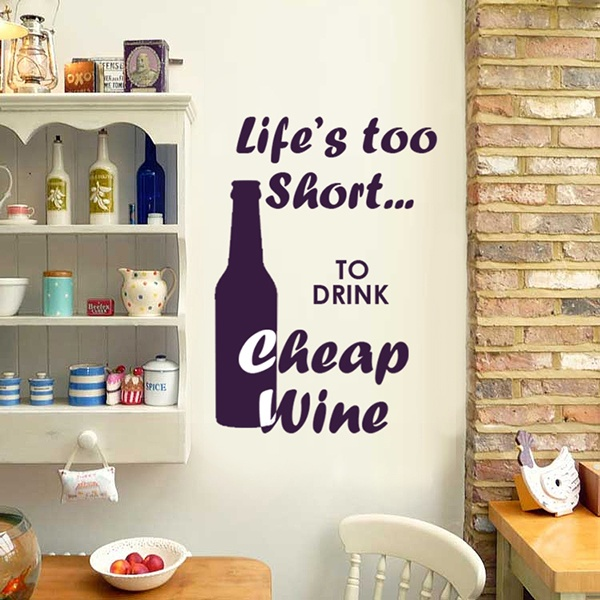 WALL STICKER CHEAP WINE