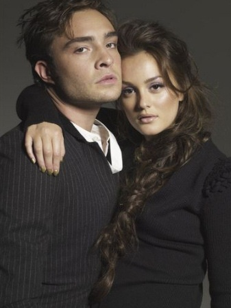 Ed Westwick / Leighton Meester.  Love her hair.  She suits the dark colour too.