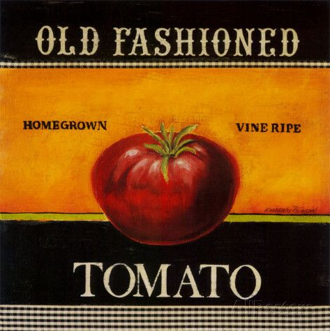 Old Fashioned Tomato Prints by Kimberly Poloson at AllPosters.com