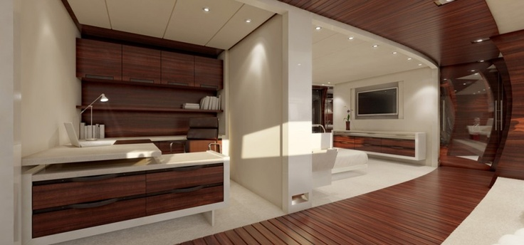Interieur van een luxe jacht...