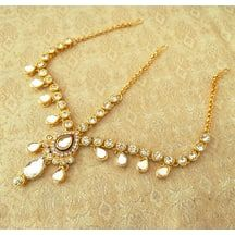 Royal Wedding Jewelry Multicolour Kundan Mathapatti Maang Tikka - Lmp01w