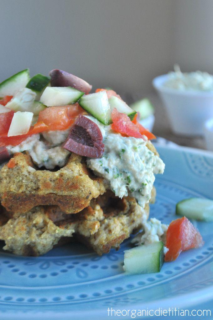 Savory Falafel Waffles with Artichoke Tzatziki | Recipe | Falafels ...