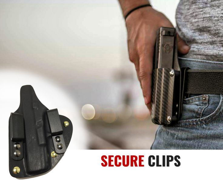 We offer minimalist IWB holsters made of leather kydex
