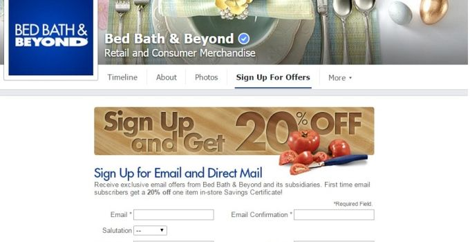 Bed Bath And Beyond Promo Email Signup