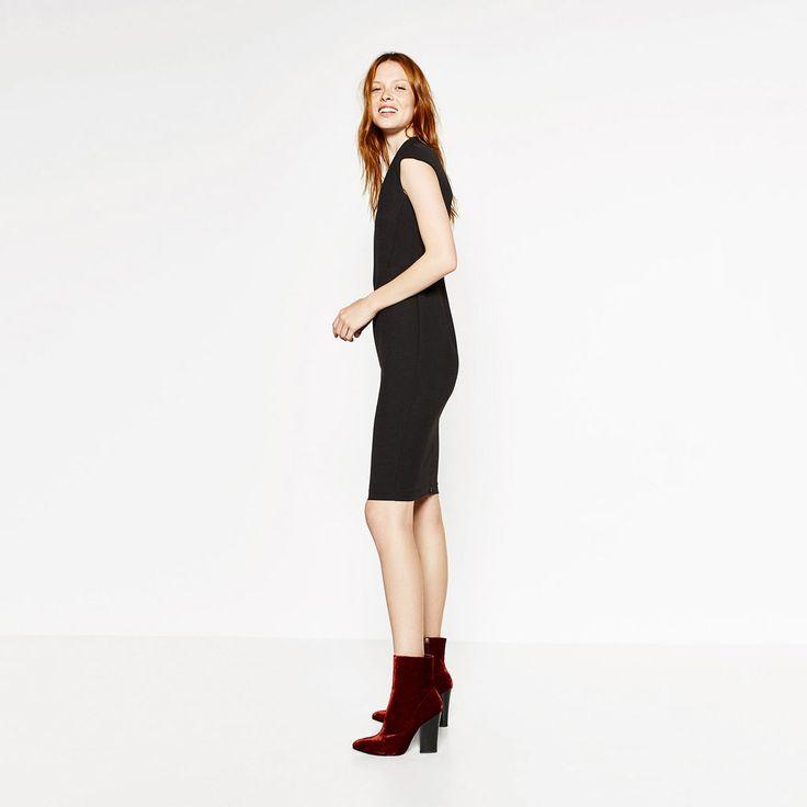 Image 1 of VELVET HIGH HEEL ANKLE BOOTS from Zara