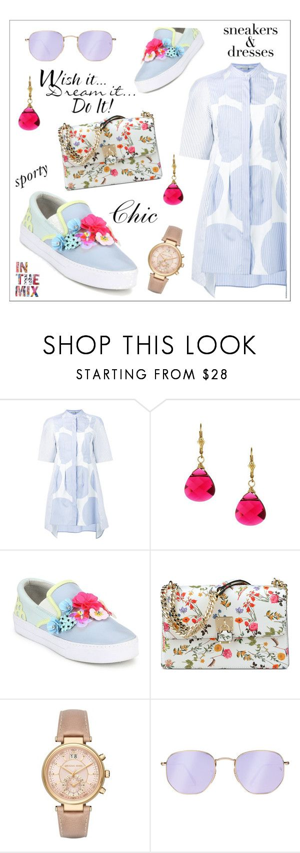 """""""Sporty Chic"""" by li-lac7 ❤ liked on Polyvore featuring STELLA McCARTNEY, Charming Life, Sophia Webster, Nine West, Michael Kors, Ray-Ban and WALL"""