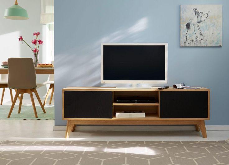 TV-Lowboard schwarz, », in trendigem, skandinavischem Design, Breite 158 cm«, pflegeleichte Oberfläche, Push to open-Funktion, FSC®-zertifiziert, GUIDO MARIA KRETSCHMER HOME & LIVING Jetzt bestellen unter: https://moebel.ladendirekt.de/wohnzimmer/tv-hifi-moebel/tv-lowboards/?uid=722bcaf2-cc4b-5442-8565-ccb0d976f74c&utm_source=pinterest&utm_medium=pin&utm_campaign=boards #tvlowboards #tvlowboard #wohnzimmer #tvhifimoebel