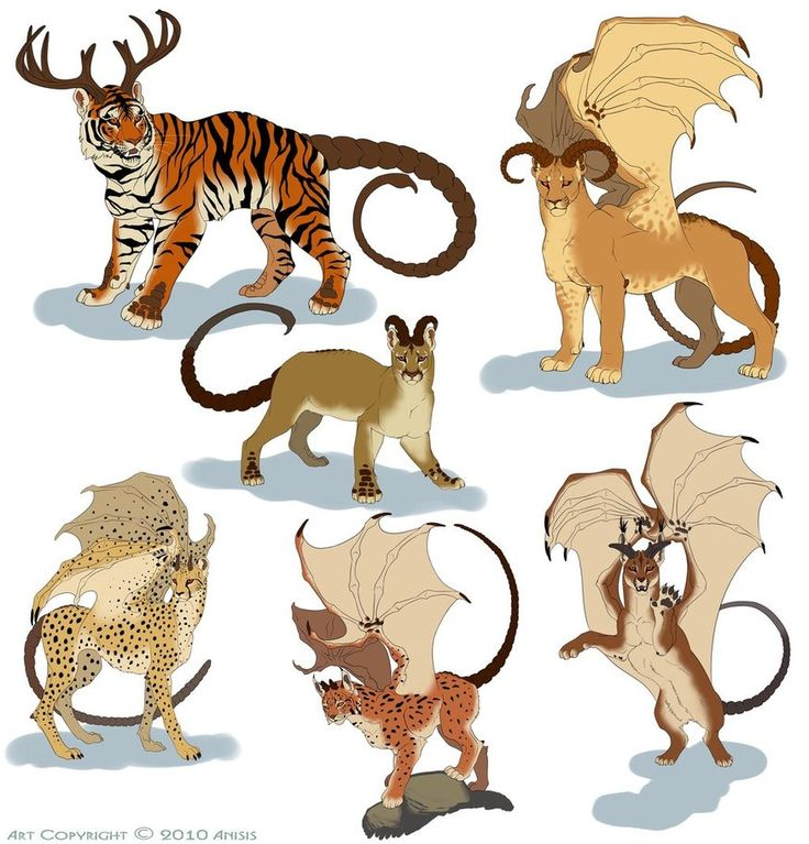 Various manticores by Anisis on DeviantArt