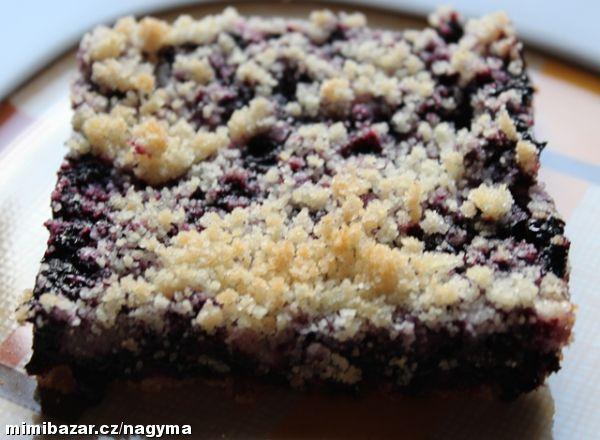 Borůvkový koláč bez kynutí