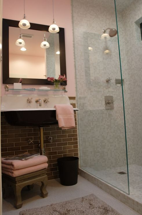 Leslie Sachs Pink amp gray bathroom with pink walls paint color  1000  images about Grey. Tubs Bathrooms Hextable