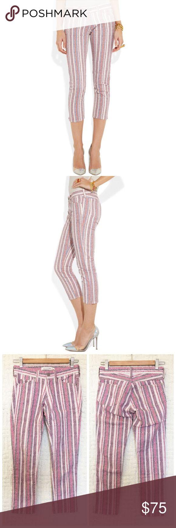 "Isabel Marant Cooper Printed Skinny Jeans Isabel Marant Cooper Printed Skinny Jeans size 34 / US size 4.  Waist measures 26"", rise measures 7"", inseam measures 23"".  No trades / modeling. Isabel Marant Jeans Skinny"