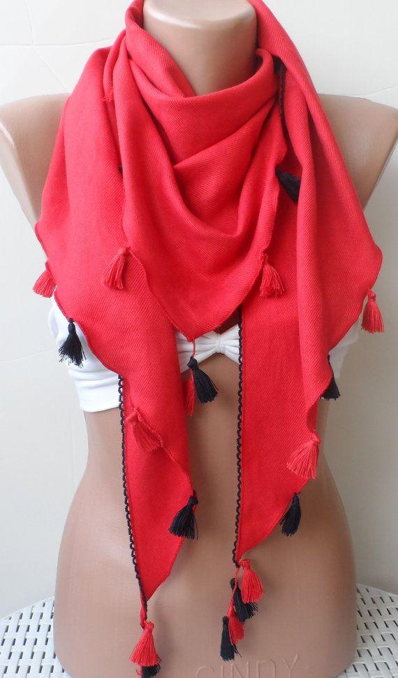 Scarf Red Pashmina Shawls Summer scarf Elegance by elegancescarf
