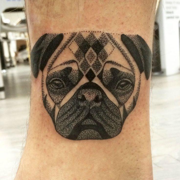 Dotwork pug by Lauren Sutton. Redwood tattoo studio, Manchester ...