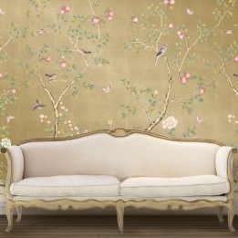 CHINOISERIE Pomegranate Metallic Gold, Tempaper