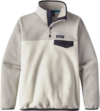 Patagonia Women's Lightweight Synchilla Snap-T Fleece Pullover  Birch White XL