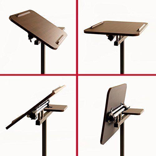 Portable Stand Desk Adjustable Lap Table Laptop Computer Living Room Furniture #PortableStandDeskAdjustableLap