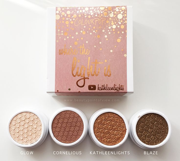 Colourpop Where The Light Is KathleenLights Set - review and swatches