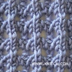 Right side of knitting stitch pattern   Lace 16 : www.knitca.com ??? Pint...