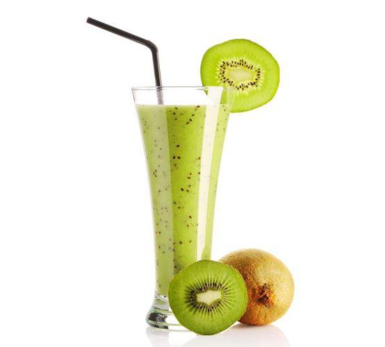 Havermout-kiwi smoothie:  1 kiwi 30 a 40 gram havermout 250 gram magere kwark (ongeveer een schaaltje) een klein handje noten (bijv. walnoten)