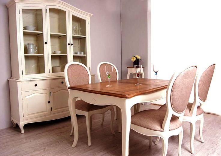 Comedor vintage frances lake material madera tropical - Muebles comedor vintage ...