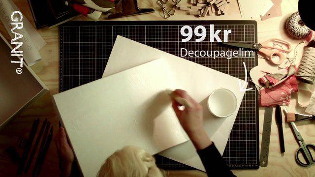 Bea Szenfeld visar hur man gör en färgsprakande förvaringslåda!   Kolla in vår kampanjsida www.granitochbea.se. Där hittar du alla filmer och mallar för nedladdning.