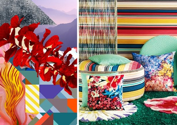 #SpringSummer2013 #SS13 #Architecture #Interiors #Furniture #Trend #Report Left: Above the Clouds by Basso and Brooke Right: Interior by Missoni Home