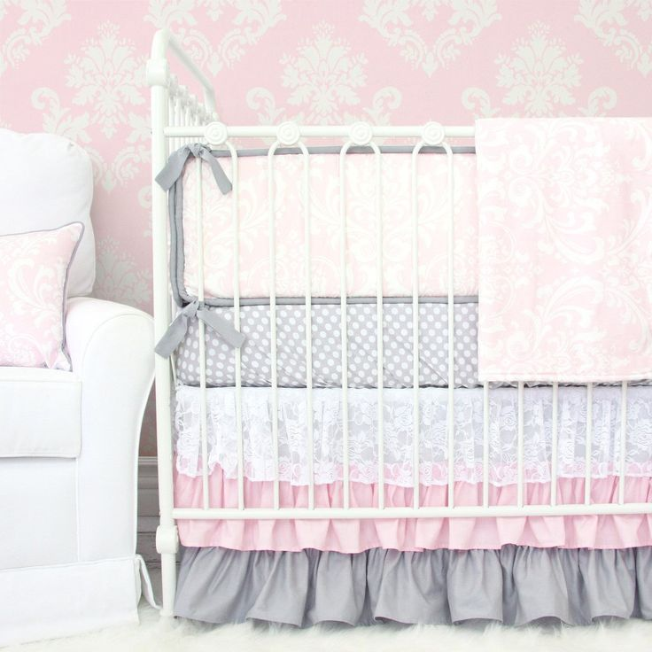 for girl unique tot flirtyflorals nursery crib bedding cribs girls modified collections