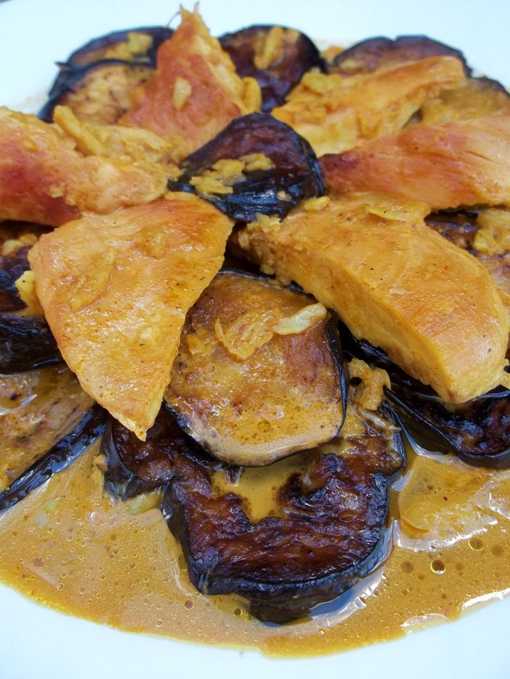 Chicken with Aubergine ready for serving - Copy