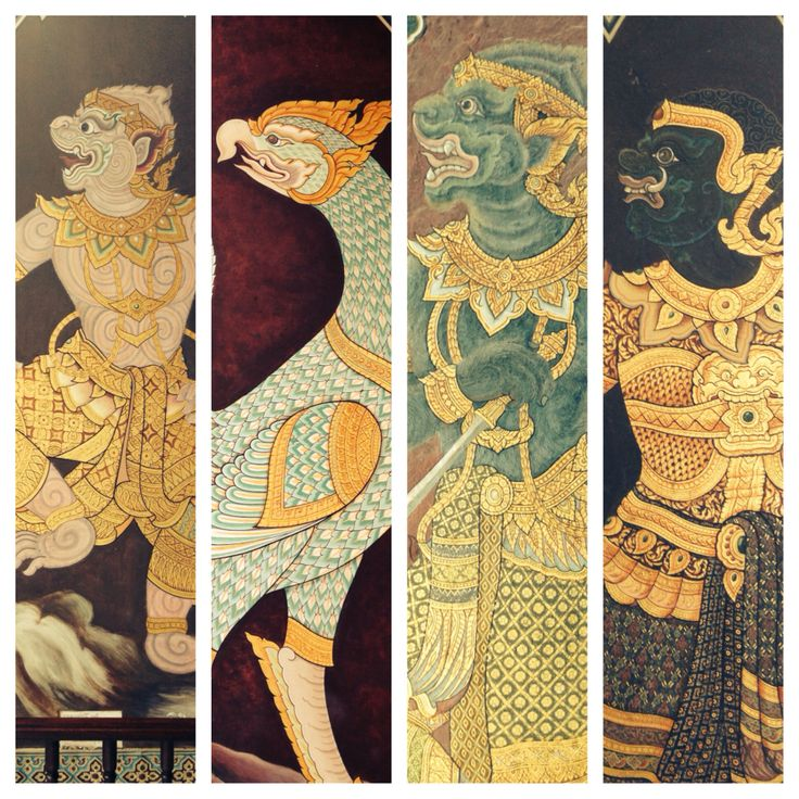 Bangkok grand palace art work
