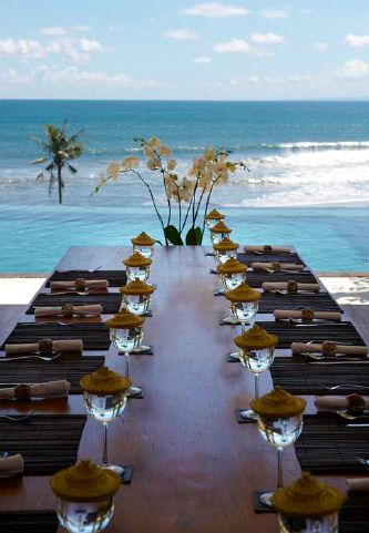 Dining with a view. Villa Babar, Bali, Indonesia.
