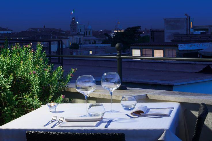 ROMANTIC DINNER IN ROME Rooftop Restaurant Ambrosia @ Artemide Hotel - Rome