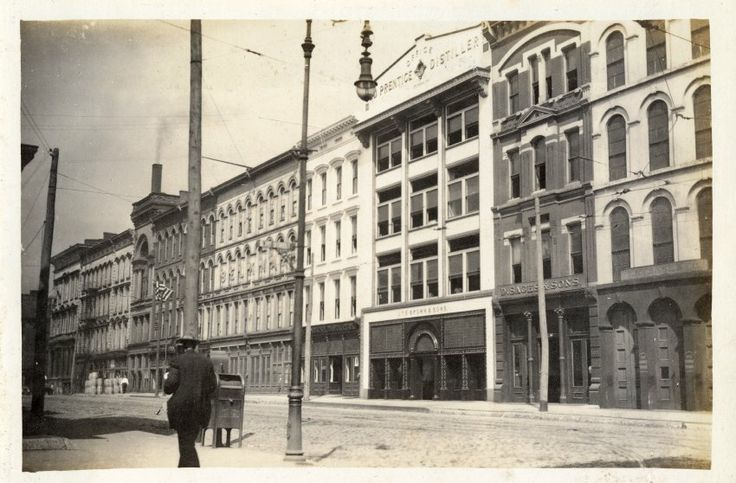 Whiskey Row in Louisville, Kentucky around 1900. Today these historic buildings and their facades are getting a new lease on life. Image from The Filson Historical Society Special Collections.