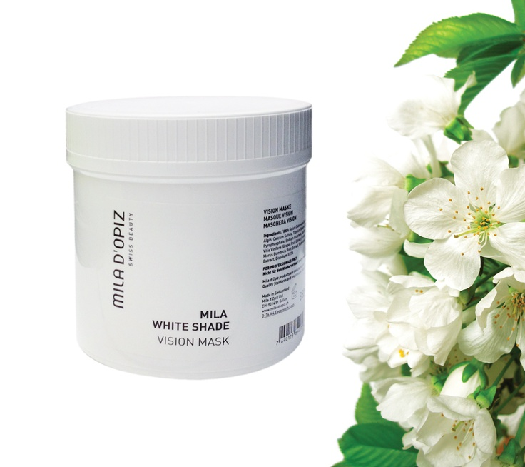 Mila d'Opiz Australia - White Shade Vision Mask. Lightens & evens skin complexion & reduces the formation of age spots. Skin regains radiance.