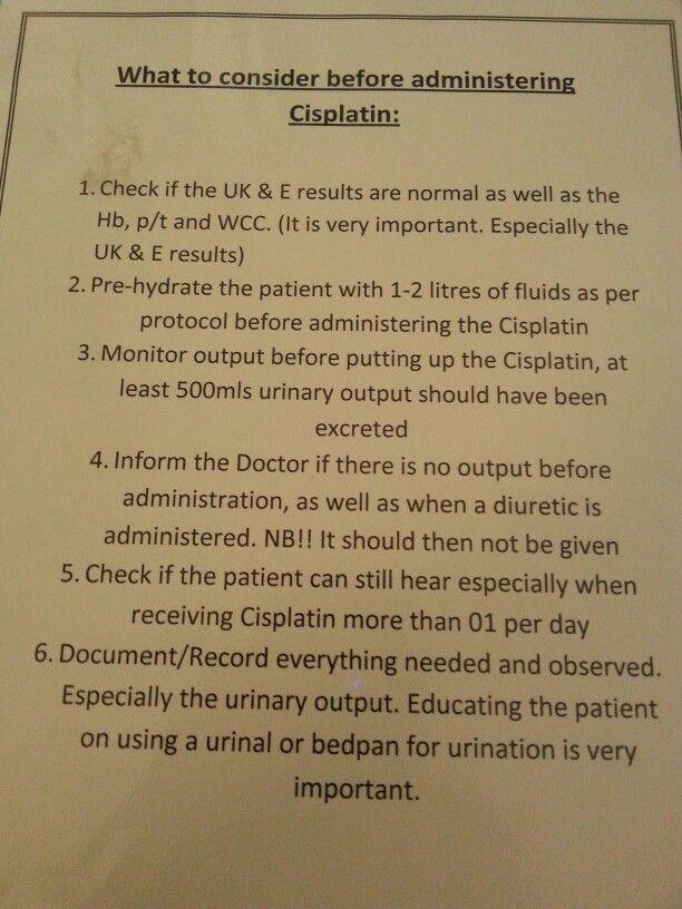 Administering Cisplatin