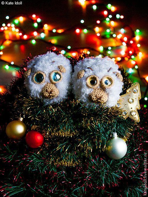 Новогодний сувенир своими руками: простейшая овечка - Ярмарка Мастеров - ручная работа, handmade