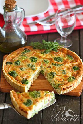 Quiche de broccoli y salmón