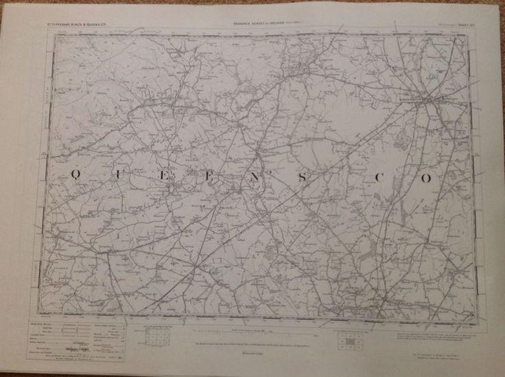 Ordnance Survey Map Maryborough Ireland One Inch Flat 1900 Version Cartography