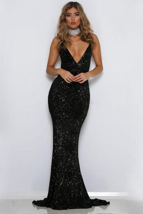 7ba1087bc2ed Allison Sequined Maxi Dress | Beautiful | Formal dresses, Backless ...