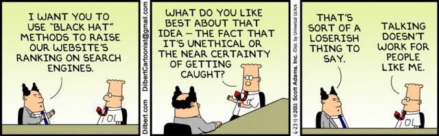Dilbert black hat SEO comic