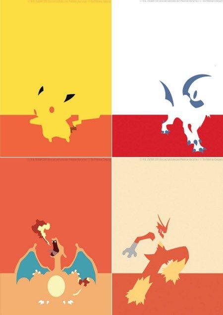 Minimalistic Pokemon posters