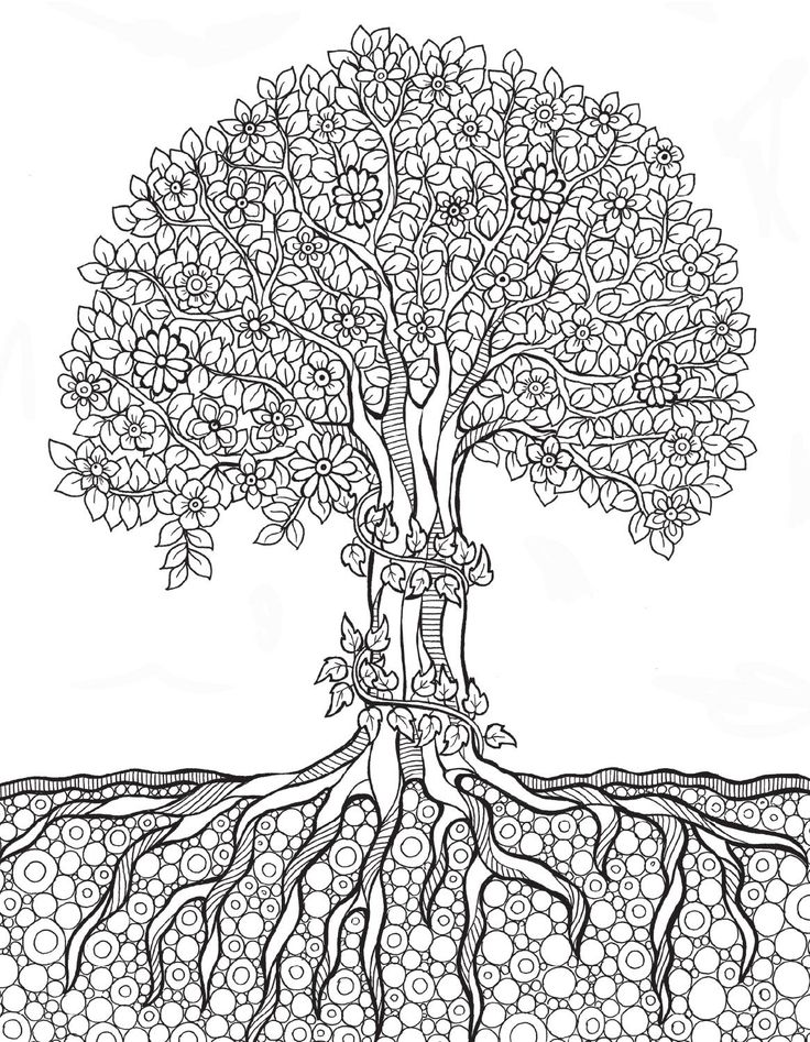 tree coloring pages for adults - never ending story free colouring pages