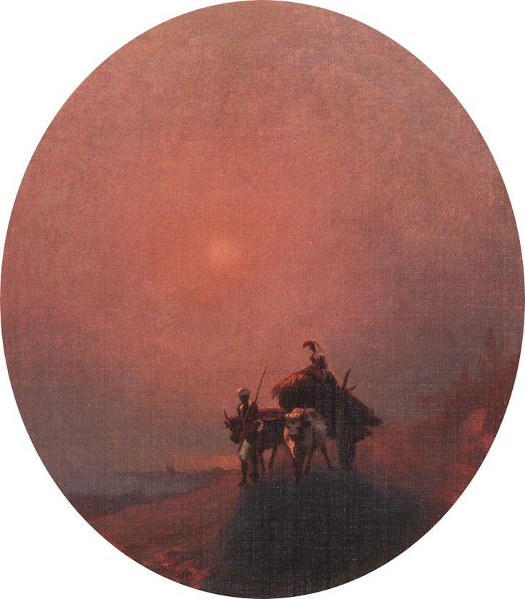 И. Айвазовский. В тумане. 1879. Серпуховской историко-художественный музей