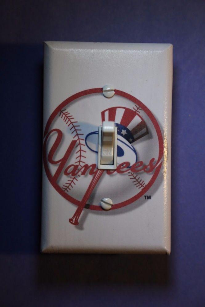 New York Yankees Baseball Light Switch Cover man cave sports room decor NY