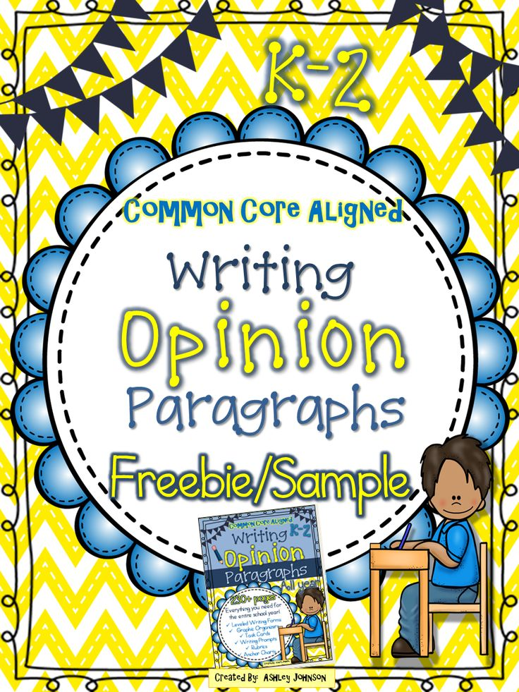 This Opinion Paragraph Writing freebie is a sample of my 230+ paged Opinion Paragraph Writing unit. It is a great way to introduce and give your students practice writing opinion paragraphs. The unit is aligned with the Common Core Standards grades K-2.