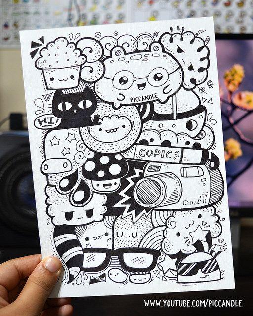Marker doodle | www.youtube.com/piccandle