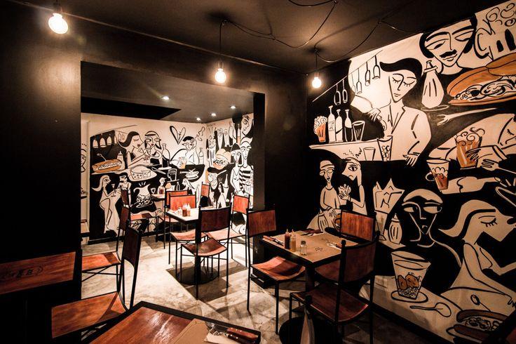 Restaurant José Ramón - Barrio Lastarria  Diseñado por Espiral www.espiralarquitectos.com