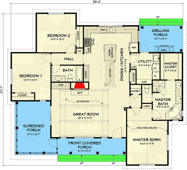 3 Bed Farmhouse With Detached 2 Car Garage House Plans Best House Plans How To Plan
