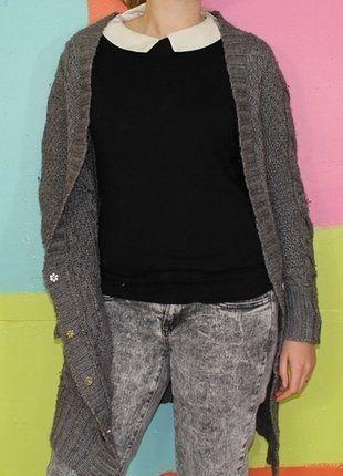 À vendre sur #vintedfrance ! http://www.vinted.fr/mode-femmes/pull-overs-and-sweat-shirts-cardigans/27428874-gilet-cardigan-veste-longue-maille-avec-poche-t136-38-sandro-automne-hiver-chicethniquecasual