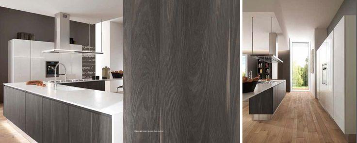 """Kitchen Cabinets Com Berloni """"Brera"""" kitchen #2. Nobilitato Woody Grigio Torba ..."""